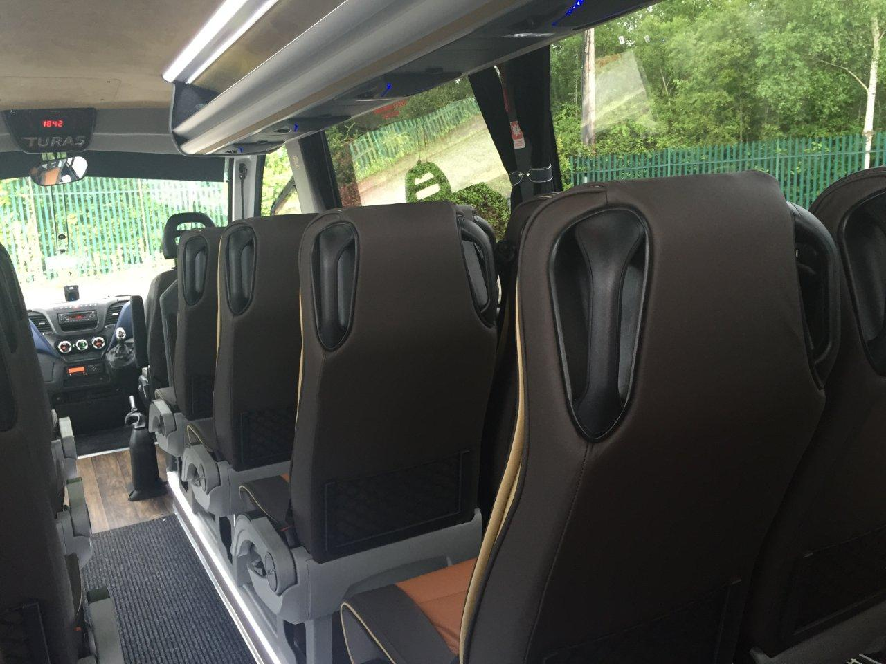 Inside Back View of 24 Seater