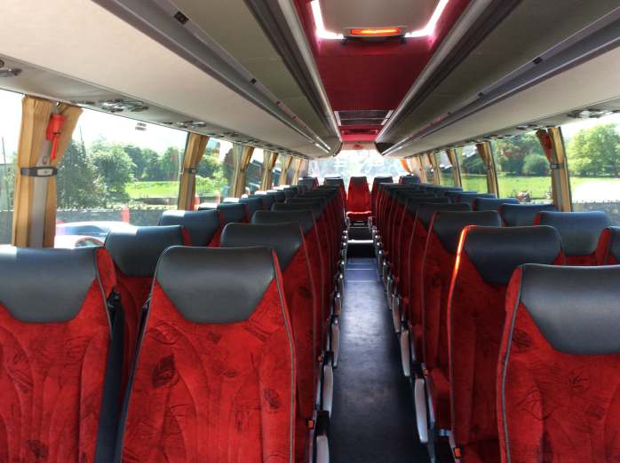 Inside 55 Seater Coach